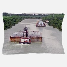 Passing Zone On Victoria Barge Canal Pillow Case