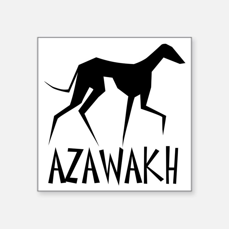 "Azawakh Square Sticker 3"" x 3"""