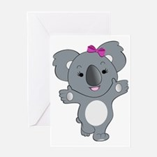 Koala Girl1 Greeting Card