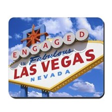 ENGAGED IN LAS VEGAS Mousepad