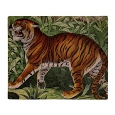 African Tiger Throw Blanket