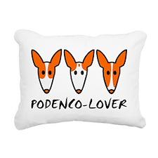 Three Ibizan Hounds Rectangular Canvas Pillow