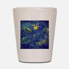 aquarium of sea turtles Shot Glass