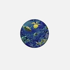 aquarium of sea turtles Mini Button