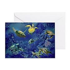 aquarium of sea turtles Greeting Card