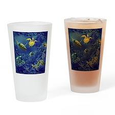 aquarium of sea turtles Drinking Glass