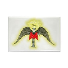Glowing Winged Cross Rectangle Magnet