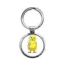 Lutheran Chick Round Keychain