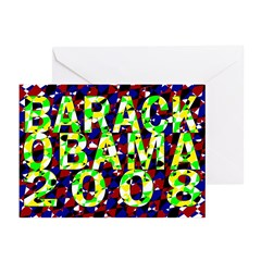 Barack Obama in Color Greeting Cards (Pk of 10