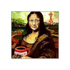 """Starbucks Mona Lisa Square Sticker 3"""" x 3"""""""