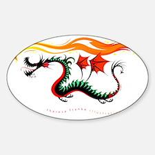 Fiery Dragon Sticker (Oval)