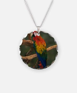 macaw Coaster Necklace