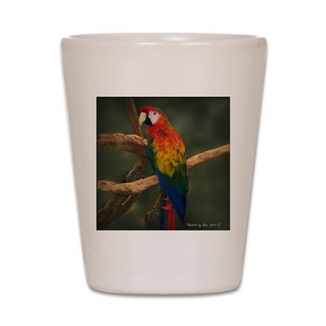 macaw Coaster Shot Glass
