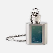 Lotus Portrait Keychain Flask Necklace
