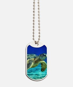 sea turtle Dog Tags