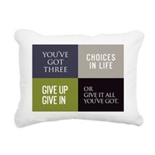 card youve got three cho Rectangular Canvas Pillow