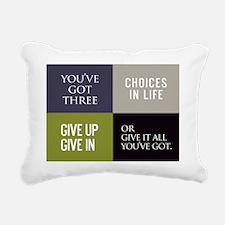 card youve got three cho Rectangular Canvas Pillow