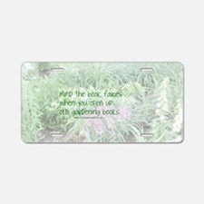 Book Fairies Aluminum License Plate