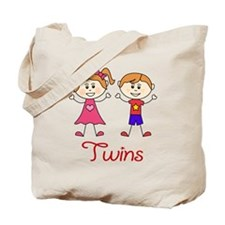 Fraternal Twins Brother and Sister Tote Bag