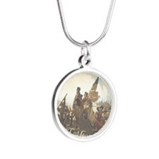 Crossing The Delaware Libert Silver Round Necklace