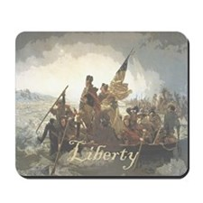 Crossing The Delaware Liberty Mousepad