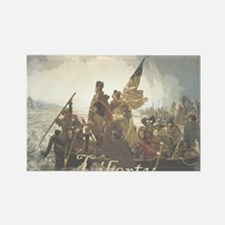 Crossing The Delaware Liberty Rectangle Magnet