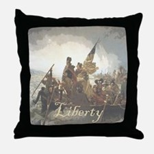 Crossing The Delaware Liberty Throw Pillow