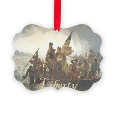 Crossing The Delaware Liberty Ornament