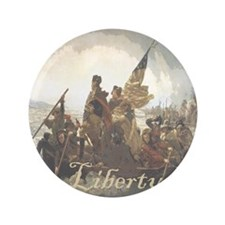 "Crossing The Delaware Liberty 3.5"" Button"