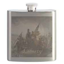 Crossing The Delaware Liberty Flask
