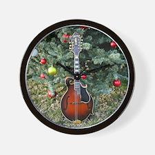 Gibson Mandolin Under the Christmas Tre Wall Clock