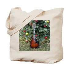 Gibson Mandolin Under the Christmas Tree Tote Bag