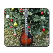Gibson Mandolin Under the Christmas Tree Mousepad