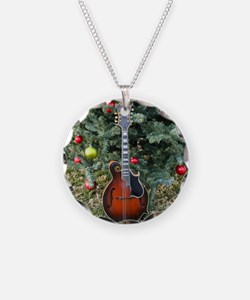 Gibson Mandolin Under the Ch Necklace Circle Charm