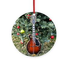 Gibson Mandolin Under the Christmas Round Ornament