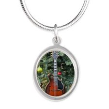 Gibson Mandolin Under the Chr Silver Oval Necklace