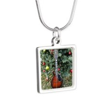 Gibson Mandolin Under the  Silver Square Necklace