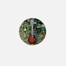 Gibson Mandolin Under the Christmas Tr Mini Button
