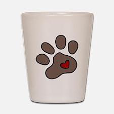 Puppy Paw Shot Glass