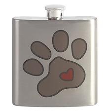 Puppy Paw Flask