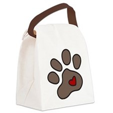 Puppy Paw Canvas Lunch Bag