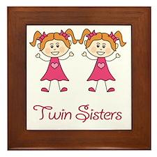 Twin Sisters Framed Tile