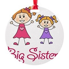 Big Sister with Little Sister Round Ornament