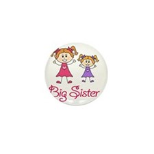Big Sister with Little Sister Mini Button