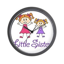 Little Sister with Big sister Wall Clock