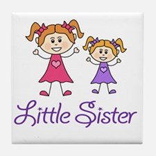 Little Sister with Big sister Tile Coaster