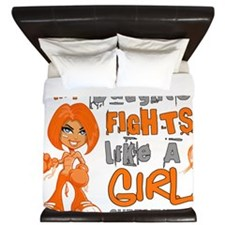 D Daughter Fights Like Girl Leukemia 42 King Duvet