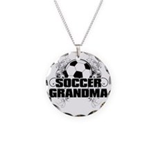 Soccer Grandma (cross) Necklace Circle Charm