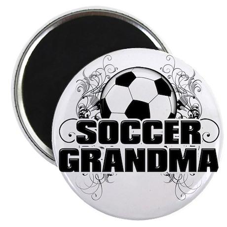 Soccer Grandma (cross) Magnet