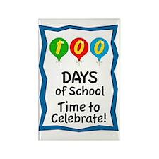 100 Days of School Balloon Rectangle Magnet